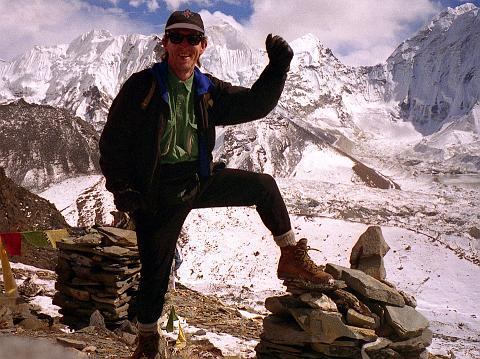Jerome Ryan on Chukung Ri (5550m) near Mount Everest in 1997